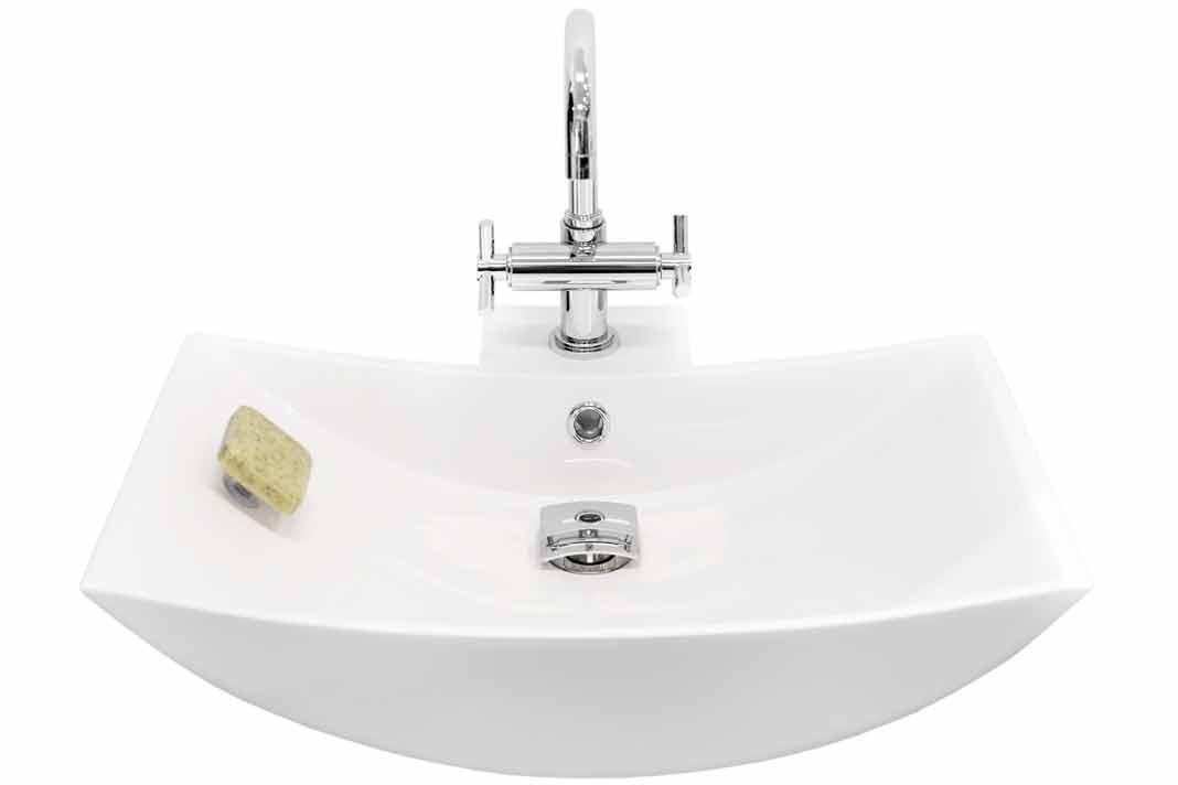 Seifenhalter mit Magnet lässt Seife schweben.