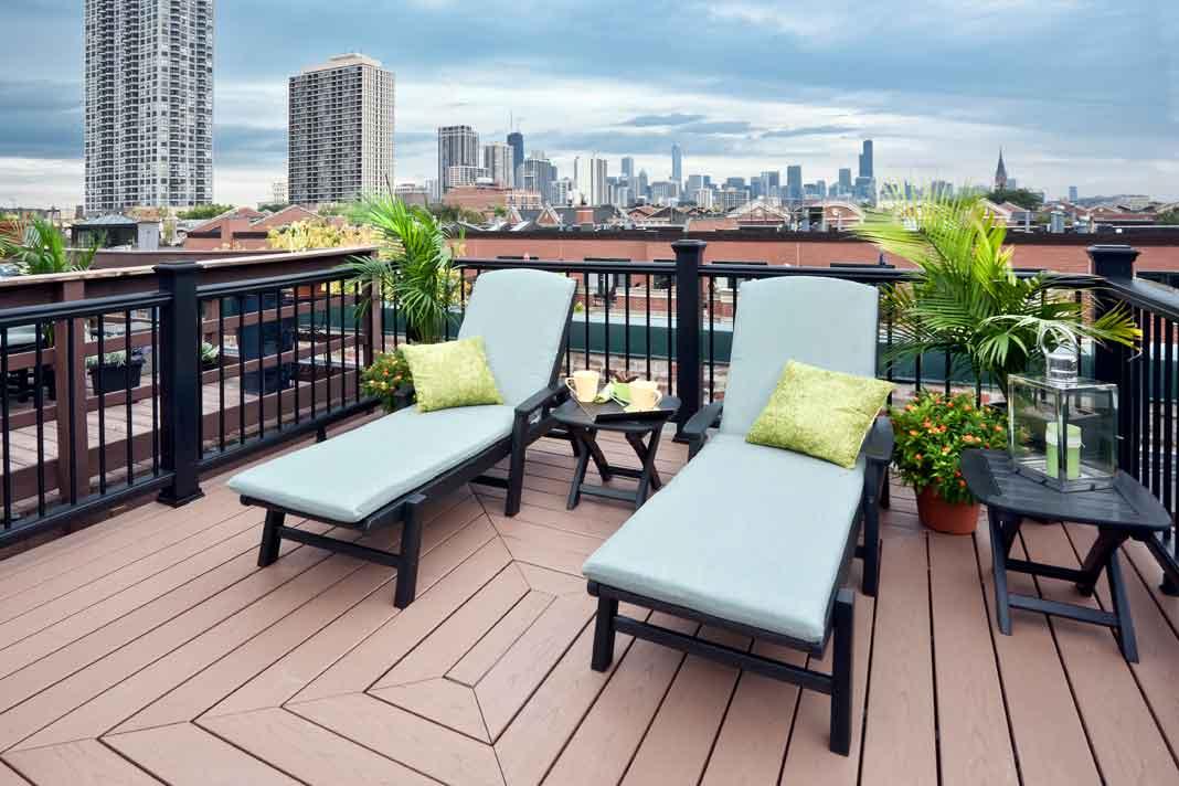 hochwertige Terrassendiele aus WPC