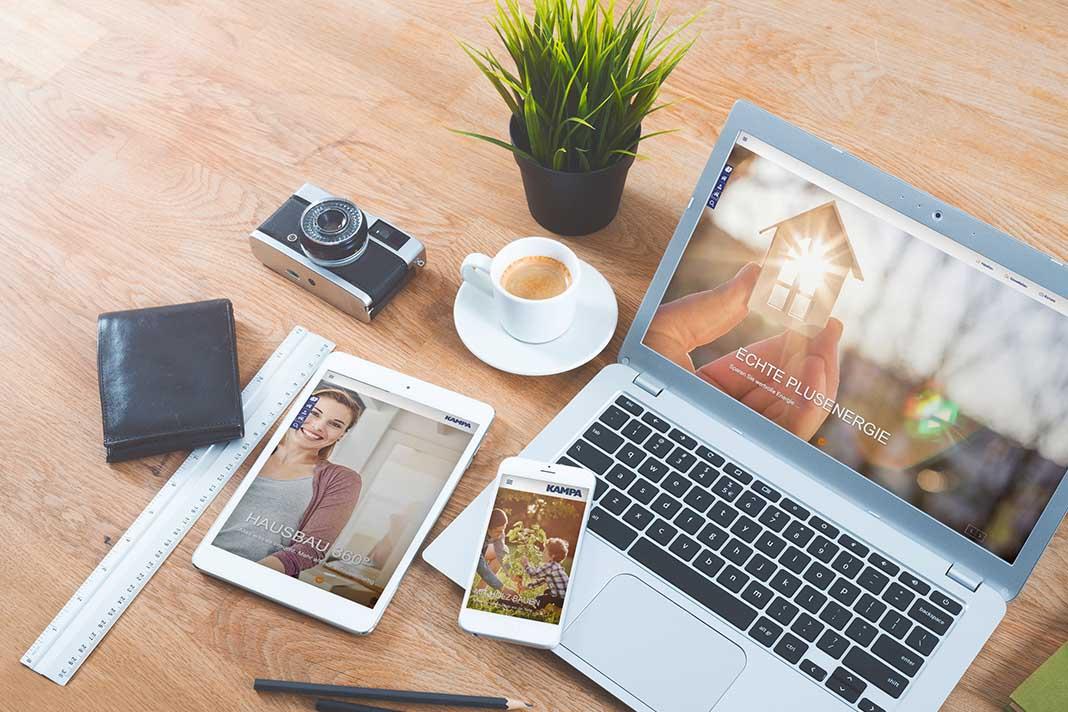 Kampa Online-Auftritt Hausbau Testival