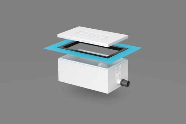 Installationsbox Easy Connect zum Einbau der Badewanne.