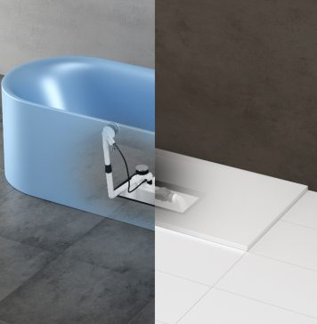 Installationsbox Easy Connect in der Badewanne