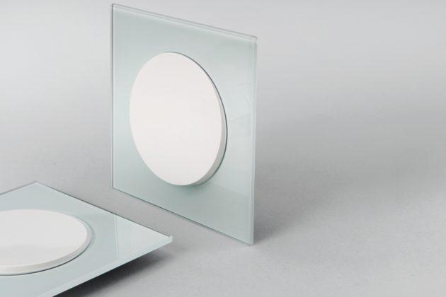 Lichtschalter aus kratzfestem Glas