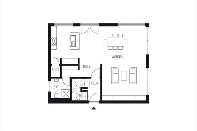 Grundriss Erdgeschoss - Entwurf zum Bauhausjubiläum - GUSSEK HAUS