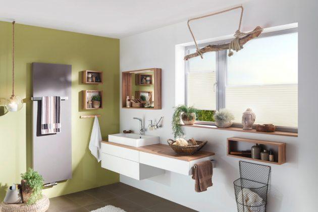 Plissees für die Fenster im Badezimmer - GARDINIA