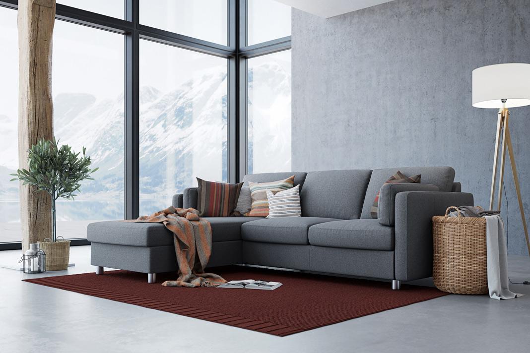 Helle Wandgestaltung für einen skandinavischen Wohn- und Lifestyle.