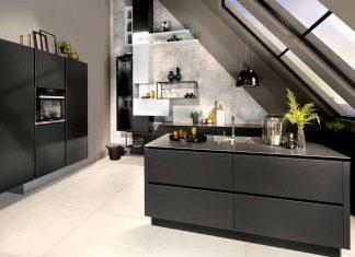 schwarze Küche als neuer Trend 2019
