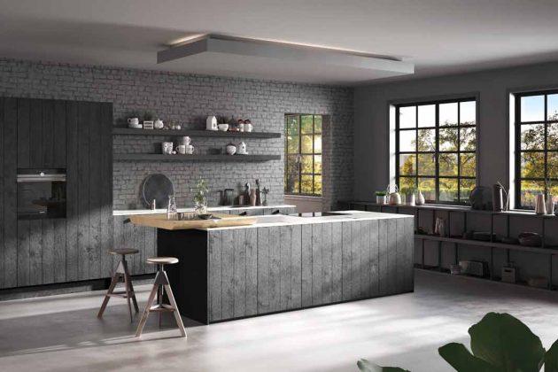 Diese Küche wurde aus Bioboard hergestellt. Das ist besonders nachhaltig.