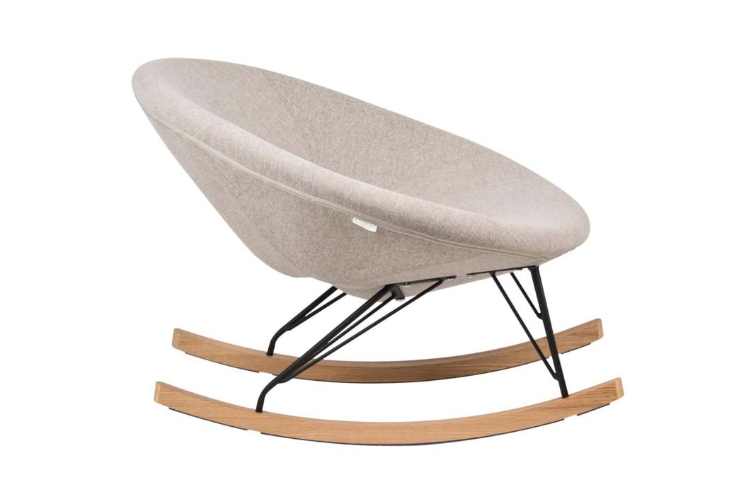 Bequemer Stillstuhl der Marke Quax in Schalenform