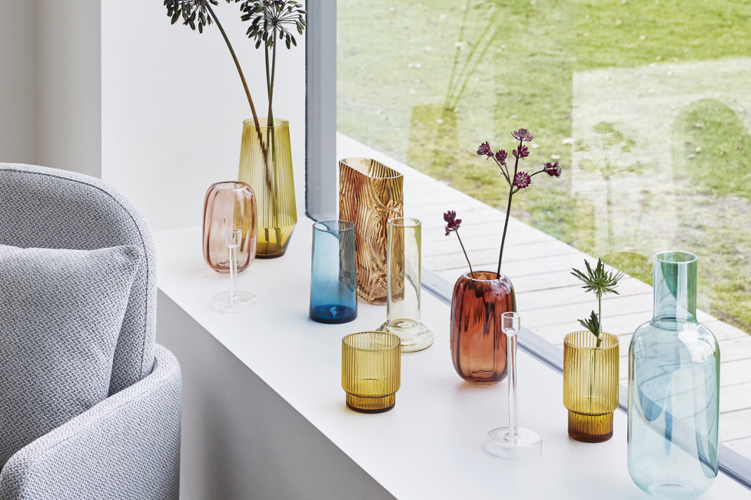 Farbmix als Dekotrend 2019 - Vasen von Hübsch