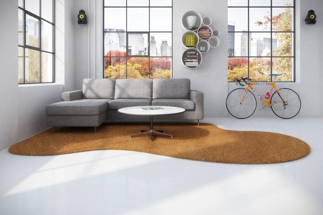 Großflächiger Teppich im Wohnzimmer - Handelsagentur Becker/ Traumteppich.com
