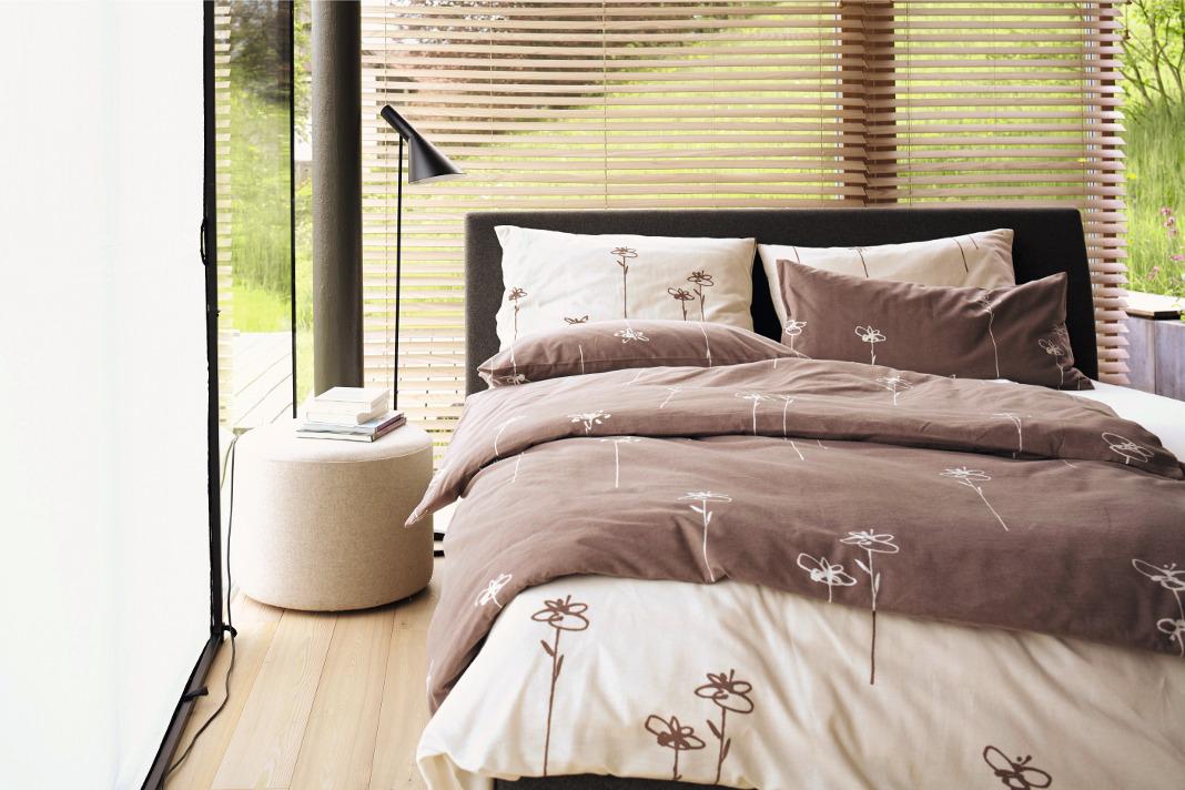 Die gesunde Bettwäsche Elianto aus Biber-Flanell ist GOTS-zertifiziert und kann zum gesunden Schlaf beitragen.