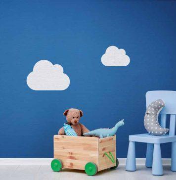 Wohngesunde Vliesfasertapete für Kinderzimmer.
