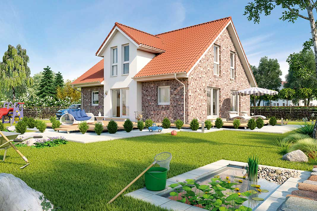 """ProFamily 159 - Einfamilienhaus mit verschiedenen Ausbaustufen: flexiblen Ausbaustufen """"Standard"""", """"Pure"""", """"Active"""" und """"Top""""."""