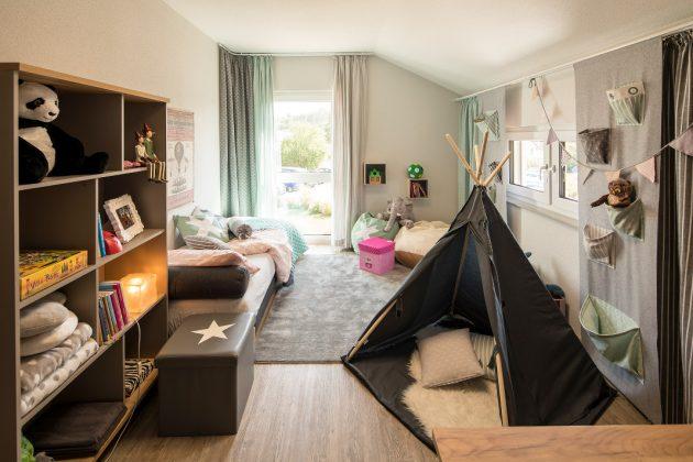 Kinderzimmer im Dachgeschoss - Musterhaus SENTO 500 B - Frankenberg
