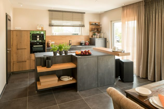 offene Küche im Musterhaus SENTO 500 B - Frankenberg