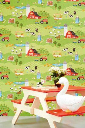 Kindertapete Bauernhof