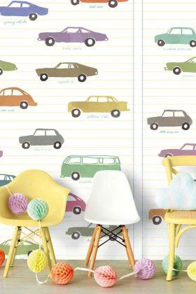 Kindertapete mit Autos