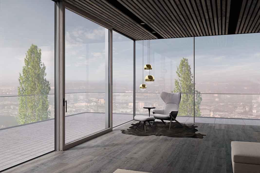 Panoramafenster durch Festverglasung über Eck