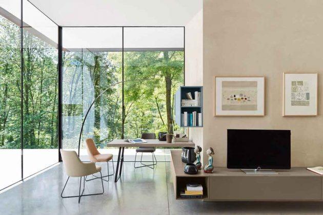 Panoramafenster durch Festverglasung einer Ecke