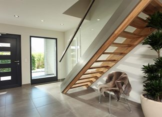 verglaste Haustür und Seitenteil