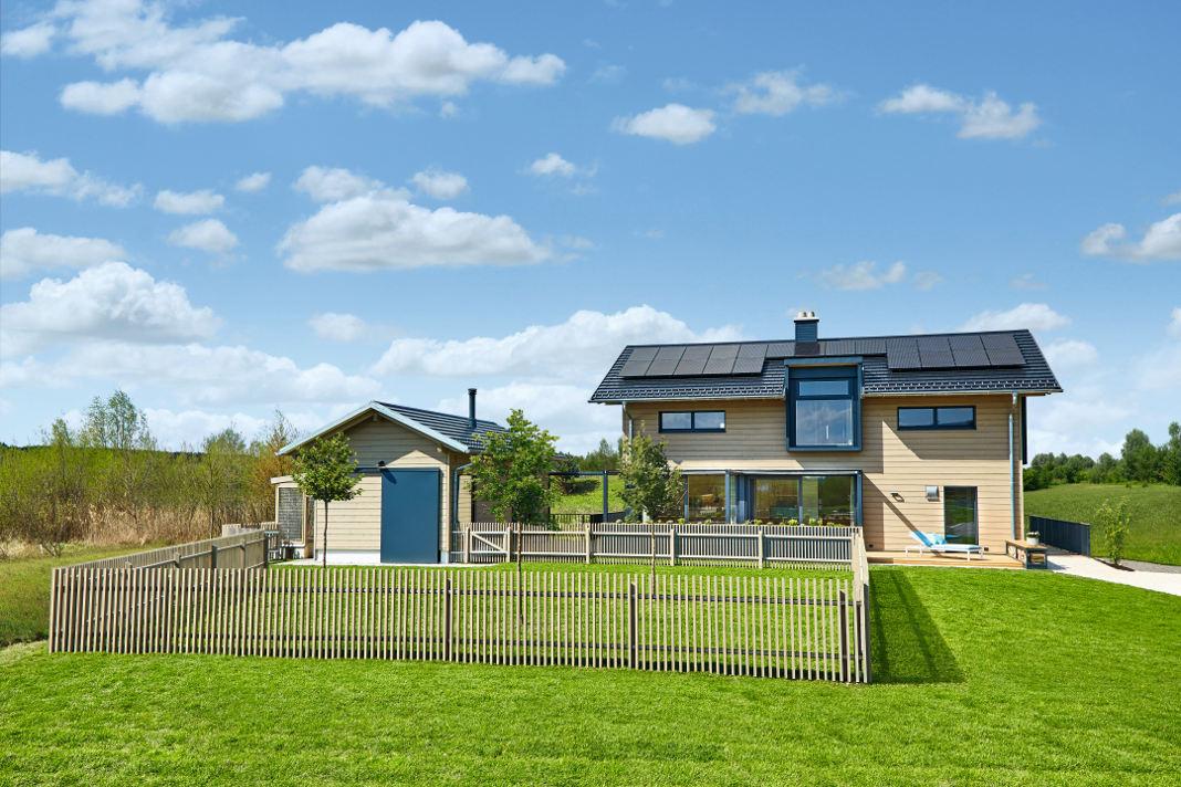 Baufritz Einfamilienhaus im individuellen Landhausstil - Baufritz
