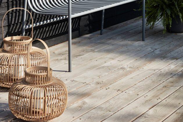 Laternen aus natürlichen Materialien für laue Sommerabende - Hübsch