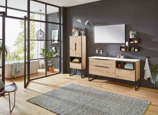 """""""Reflex"""" sind Badmöbel aus Holz die an jede Raumsituation flexibel angepasst werden können."""