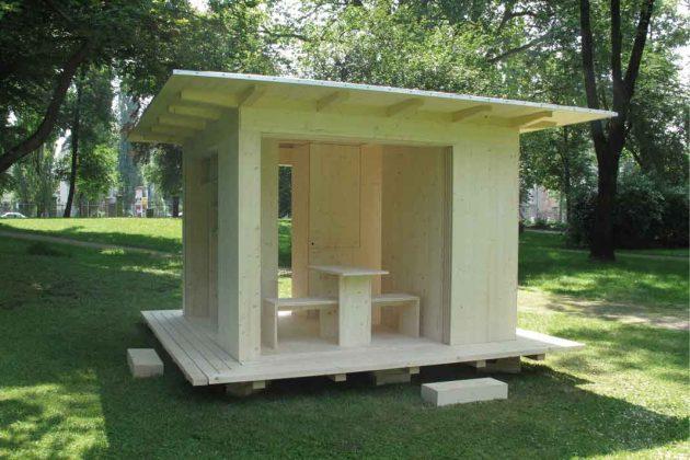 Gartenhaus komplett aus Holz