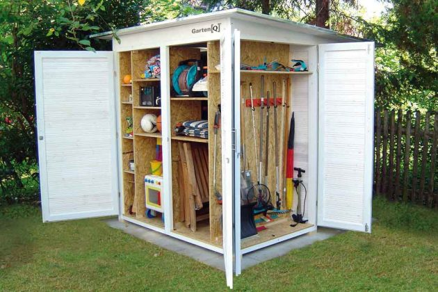 rustikales Design Gartenhaus aus Holz