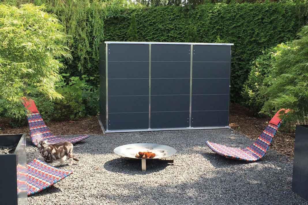 Design Gartenhaus für mehr Stauraum