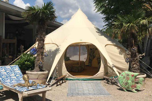 hübsches Zelt als modernes Design Gartenhaus