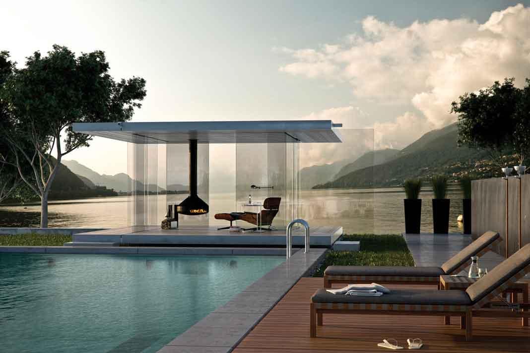 Der Pavillion 360 besteht komplett aus Glas