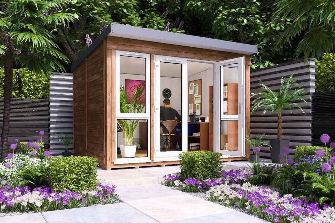 gartentrend modernes design gartenhaus livvi de. Black Bedroom Furniture Sets. Home Design Ideas