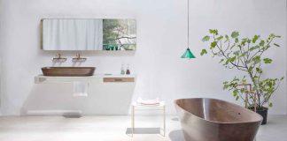 Holzbadewanne als luxuriöses Designobjekt