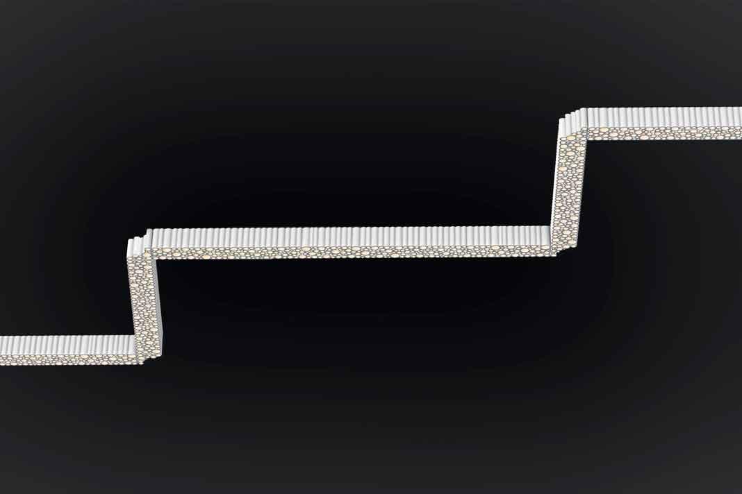 lineare Design-Lampe