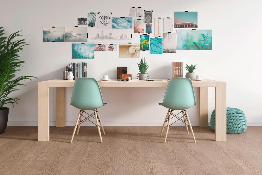 Der natürliche Holzfußboden als Basis fürs Home Office - mafi