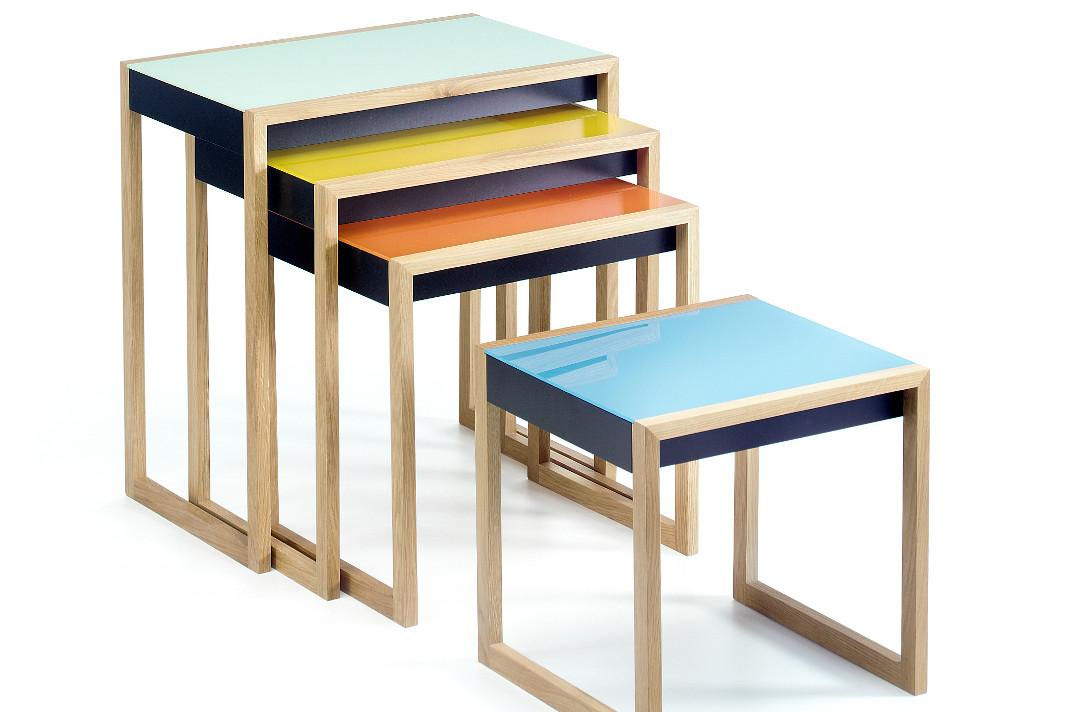 Satztische Nesting Tables im Bauhausstil - www.heimatwerke.de