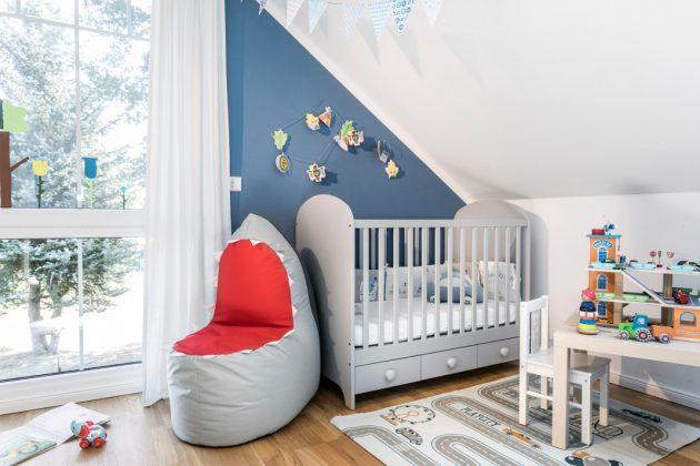Kinderzimmer im Dachgeschoss des Holzhauses - SchwörerHaus KG