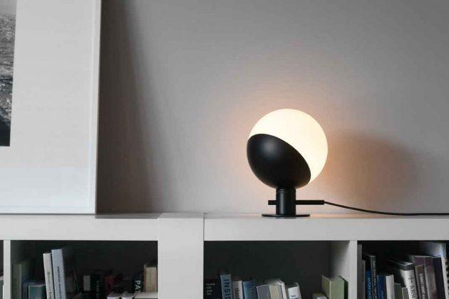 runde Design Lampe