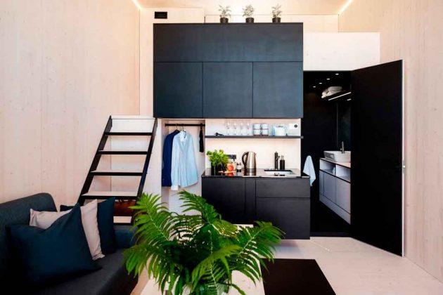 Aufteilung Räume im Modulhaus