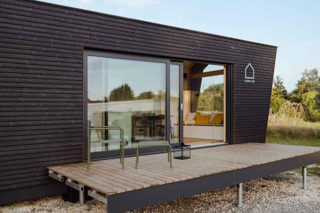 Modulhaus mit Terrasse