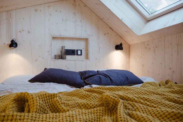 Bett im Modulhaus