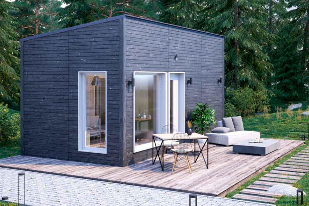 minimalistisches Modulhaus