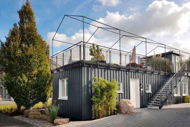 Modernes und zukunftsfähiges Modulhaus mit Dachterrasse