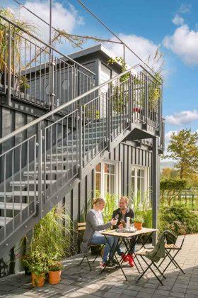 Das Modulhaus Green Living Space bietet umweltfreundliches Wohnen auf wenig Raum.