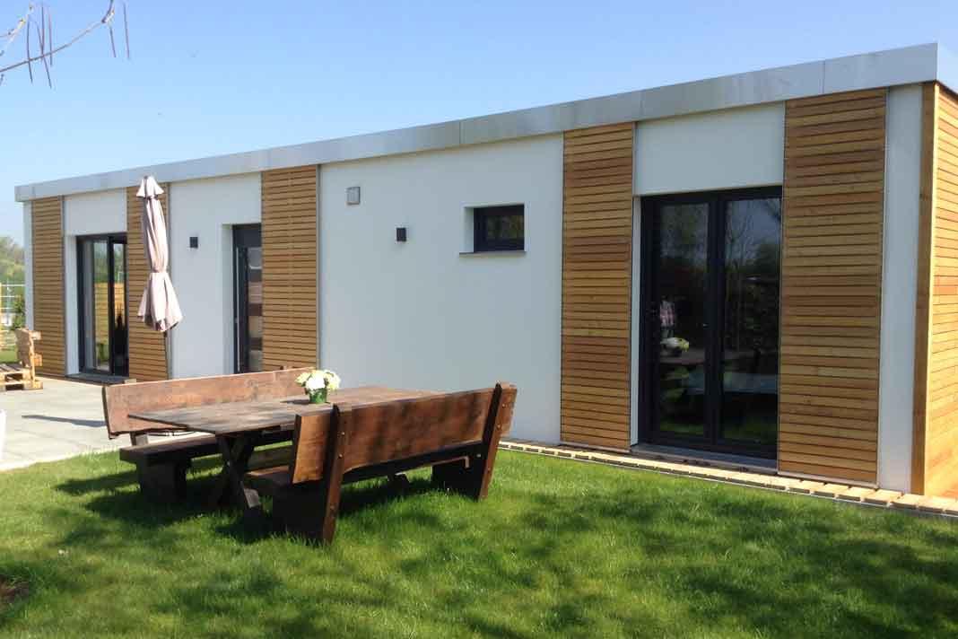 Smart-House Modulhaus mit rund 50 Quadratmetern Wohnfläche