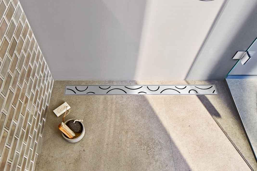 Designabdeckung für bodengleiche Duschen