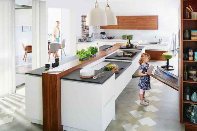 ergonomische Küche für die ganze Familie