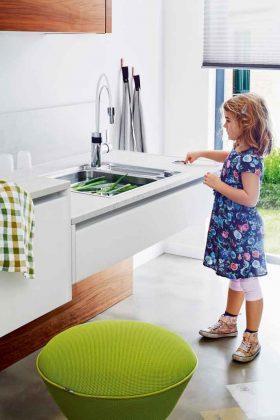 höhenverstellbare Küche