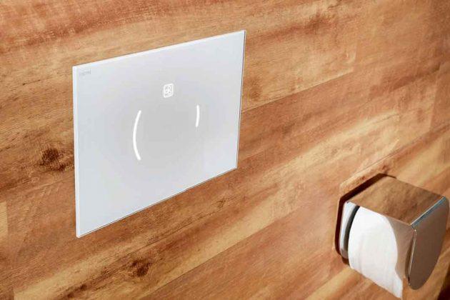 berührungslose WC-Bedienung mit Licht